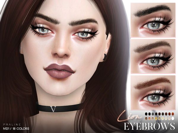 Lion Eyebrows N121 by Pralinesims at TSR image 3 Sims 4 Updates