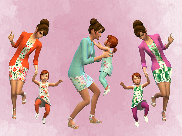 Mom and Toddler Matching Outfits by Stachelbeere at TSR image 3010 Sims 4 Updates