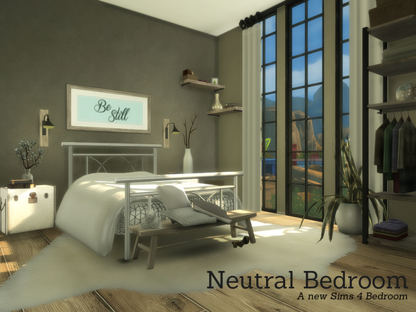 Neutral Bedroom by Angela at TSR image 3017 Sims 4 Updates