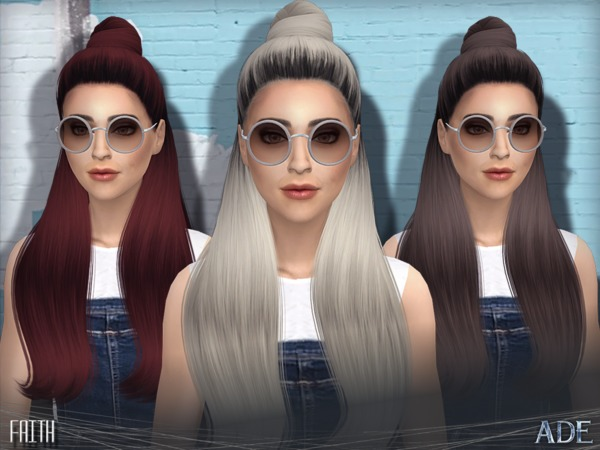 Faith Hair By Ade Darma At Tsr 187 Sims 4 Updates