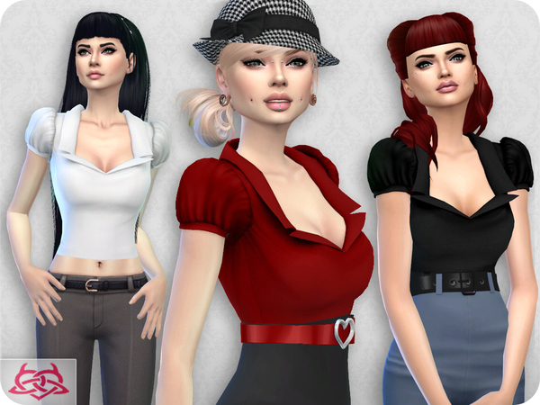 Sims 4 Matilde blouse by Colores Urbanos at TSR