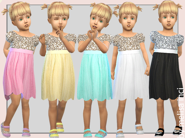 Sims 4 Toddler Sequin Dress by melisa inci at TSR