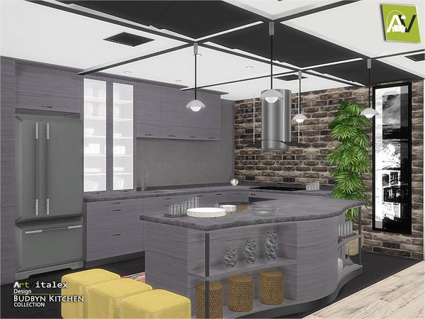 Budbyn Kitchen by ArtVitalex at TSR image 326 Sims 4 Updates