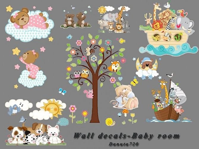 Sims 4 Baby Room   Wall Decals by Danuta720 at TSR