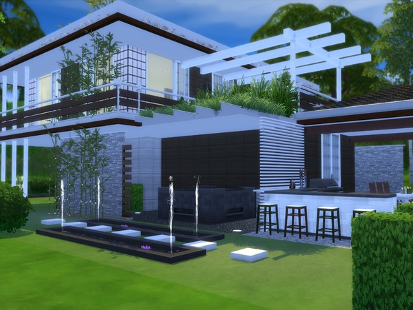 Niljana modern home by Suzz86 at TSR image 3418 Sims 4 Updates