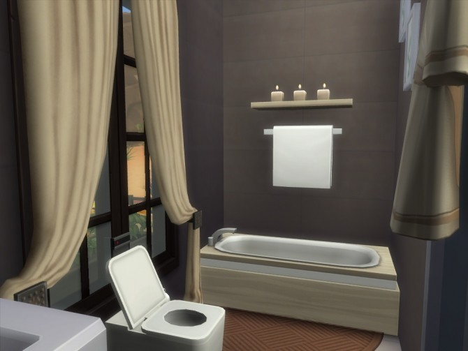 Sims 4 Little Oasis house no cc by Lenabubbles82 at Mod The Sims