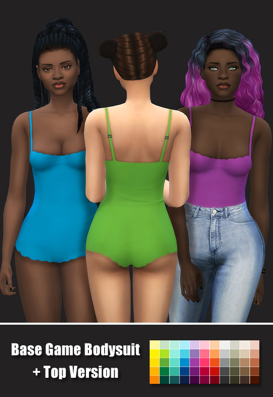 Sims 4 Bodysuit and Top Version by maimouth at SimsWorkshop