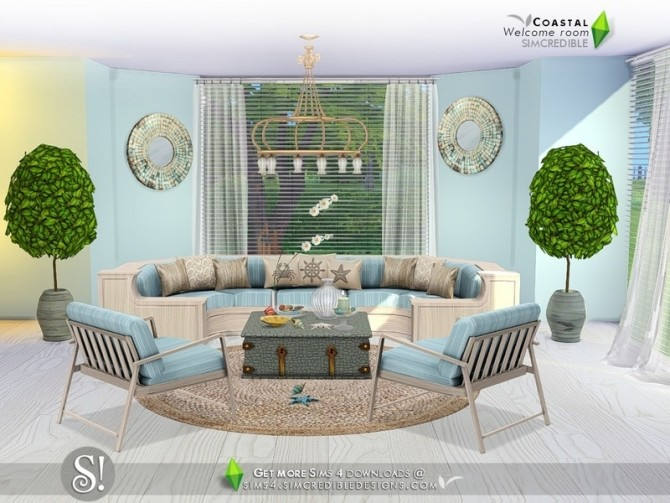Sims 4 Coastal welcome room by SIMcredible at TSR