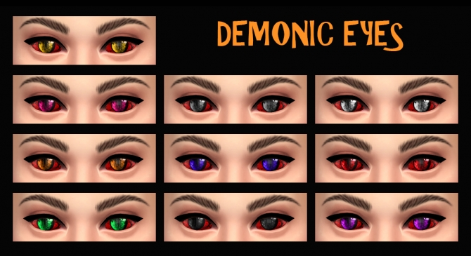 Demonic Eyes As Face Paint By Simmiller At Mod The Sims
