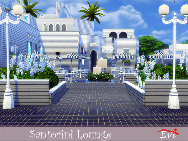 Sims 4 Santorini Lounge by evi at TSR