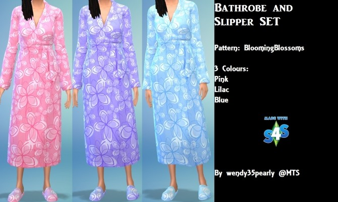 GP02 Bathrobe and Slipper SET by wendy35pearly at Mod The Sims image 384 670x402 Sims 4 Updates