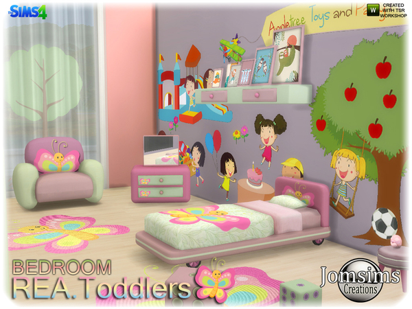 Rea toddlers bedroom by jomsims at TSR image 398 Sims 4 Updates