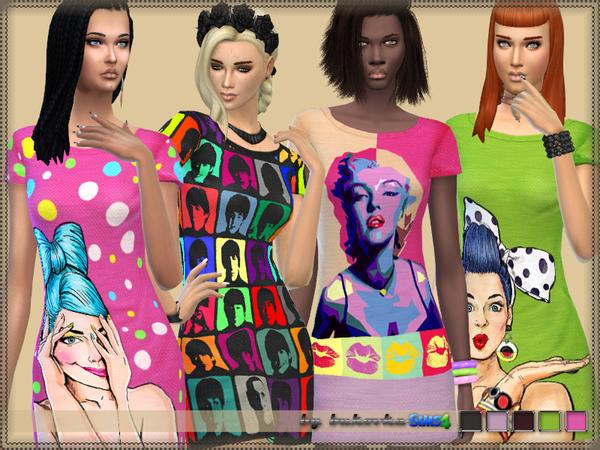 Dress Pop Art by bukovka at TSR image 4 Sims 4 Updates