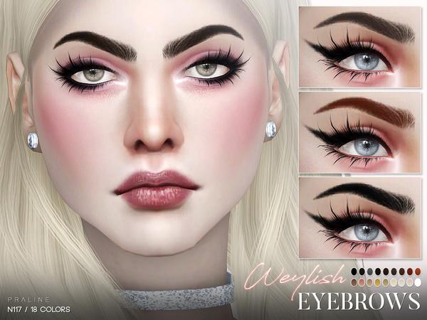 Sims 4 Weylish Eyebrows N117 by Pralinesims at TSR