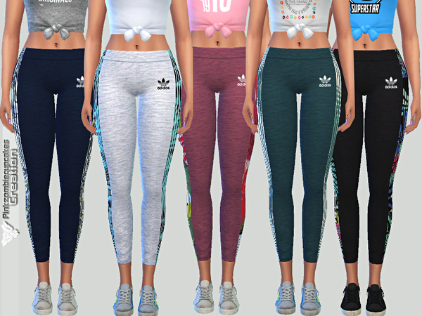 Sims 4 Summer Leggings 05 by Pinkzombiecupcakes at TSR
