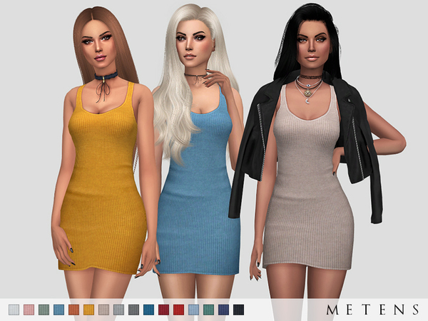 Sims 4 Amber Dress by Metens at TSR
