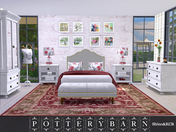 Potterybarn Bedroom by ShinoKCR at TSR image 418 Sims 4 Updates
