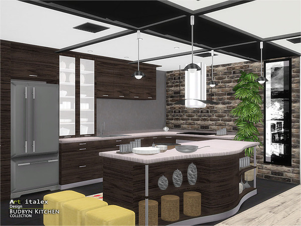 Budbyn Kitchen by ArtVitalex at TSR image 420 Sims 4 Updates
