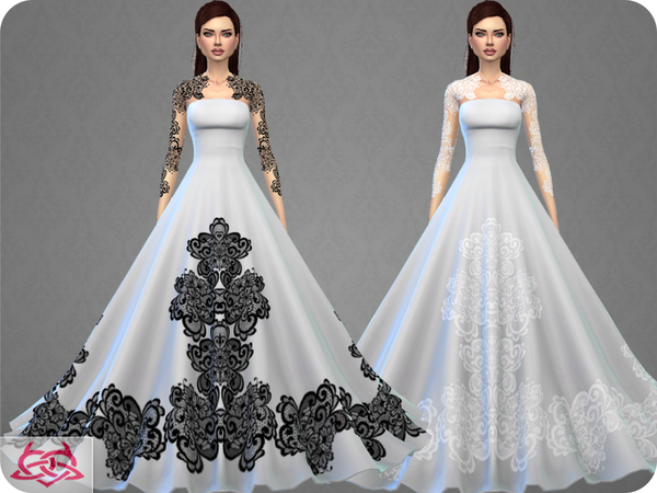 Sims 4 Wedding Dress 9 RECOLOR 4 by Colores Urbanos at TSR