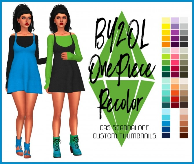 Sims 4 One Piece Recolor by Sympxls at SimsWorkshop