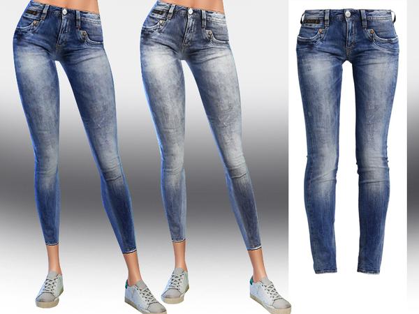 Sims 4 Slim Fit Jeans by Saliwa at TSR