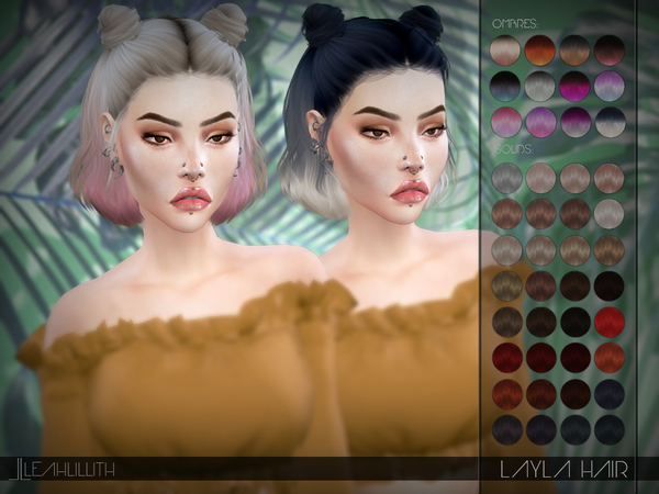 Sims 4 Layla Hair by Leah Lillith at TSR
