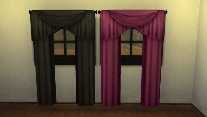 Sims 4 Peekaboo Curtains Recolor by bmso85 at Mod The Sims