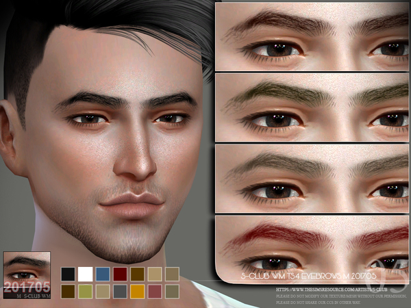 Sims 4 Eyebrows M 201705 by S Club WM at TSR