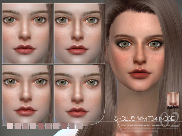 Sims 4 Nose 201702 by S Club WM at TSR