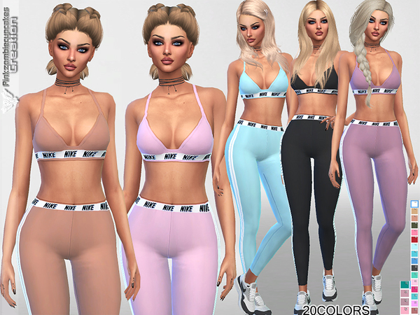 Summer Sporty Outfit by Pinkzombiecupcakes at TSR image 453 Sims 4 Updates