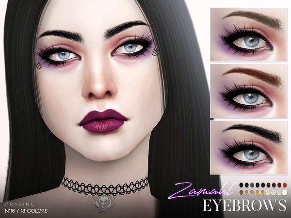 Zamahl Eyebrows N116 by Pralinesims at TSR image 458 Sims 4 Updates