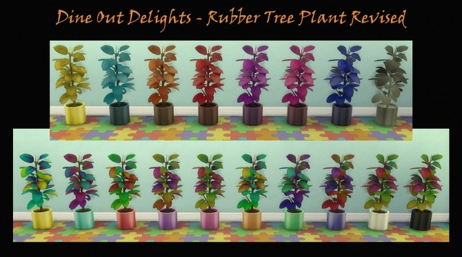 Sims 4 Rubber Tree Decorative Plant Revised and Recoloured by Simmiller at Mod The Sims