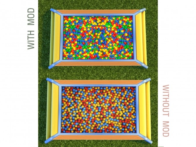 Toddler Ball Pit Texture Replacement by yakfarm at Mod The Sims image 4619 670x503 Sims 4 Updates
