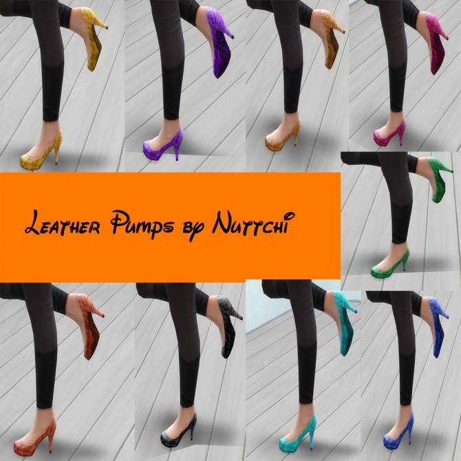 Sims 4 Leather Pumps by Nuttchi at Mod The Sims