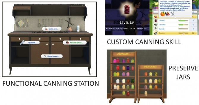 Functional Canning Station and Skill by icemunmun at Mod The Sims image 475 670x353 Sims 4 Updates