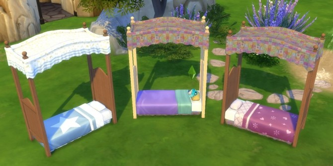 Canopy Toddler Bed by BigUglyHag at SimsWorkshop image 478 670x335 Sims 4 Updates