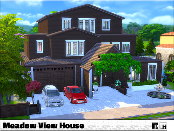 Sims 4 Meadow View House by Pinkfizzzzz at TSR