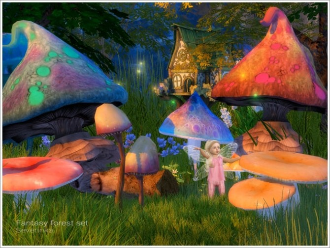Fantasy forest set at Sims by Severinka image 4817 670x505 Sims 4 Updates