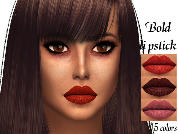 Bold lipstick by Sharareh at TSR image 4911 Sims 4 Updates
