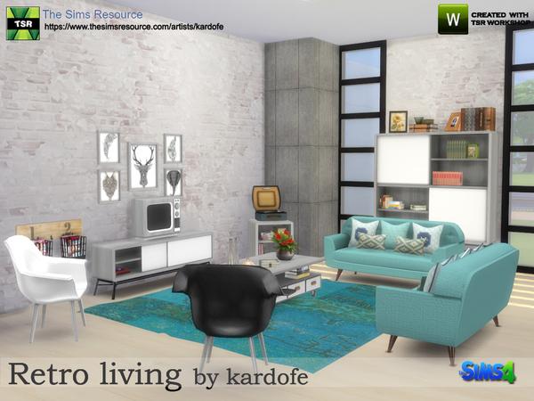 Sims 4 Retro living by kardofe at TSR