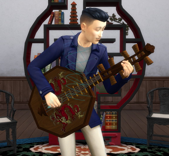 Imperial Dragon Lute by BigUglyHag at SimsWorkshop image 501 Sims 4 Updates