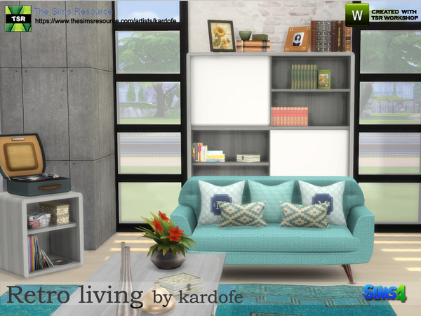 Retro living by kardofe at TSR image 503 Sims 4 Updates