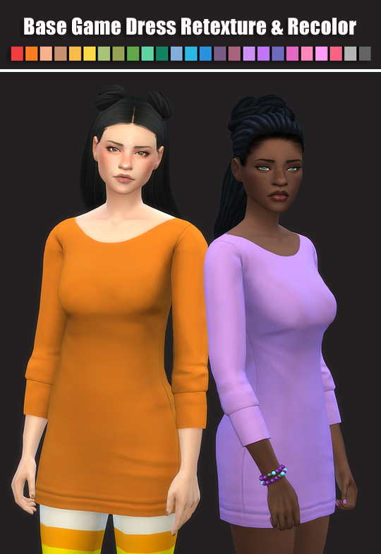 Base Game Dress Retexture & Recolor at Maimouth Sims4 image 508 Sims 4 Updates