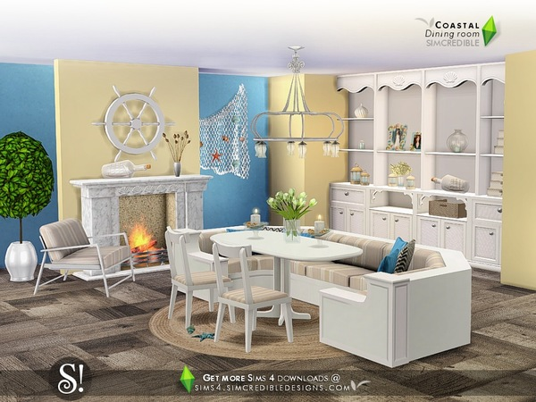 Coastal Dining room by SIMcredible at TSR image 5102 Sims 4 Updates