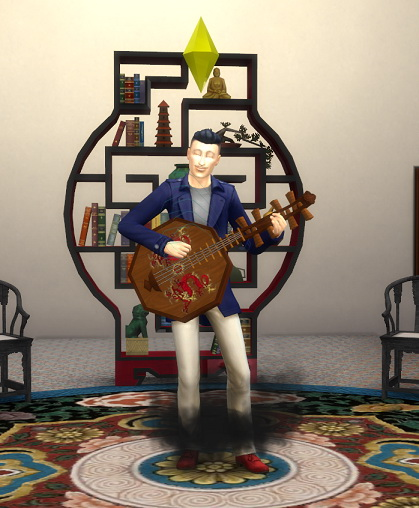 Sims 4 Imperial Dragon Lute by BigUglyHag at SimsWorkshop