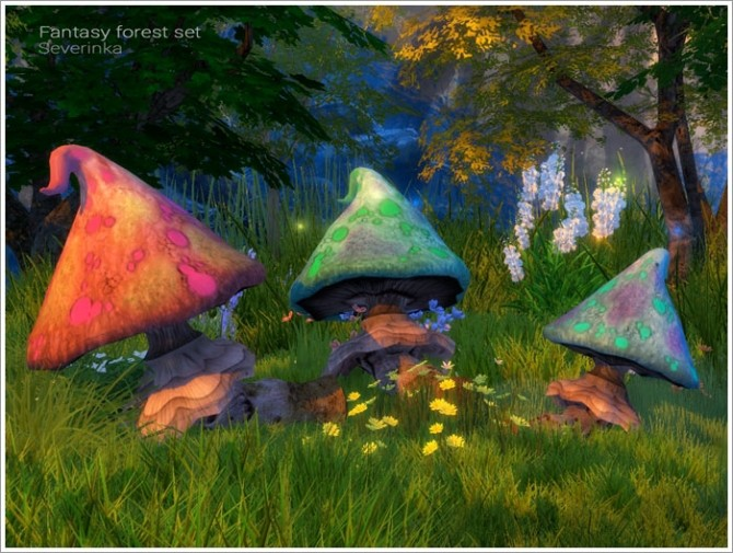 Fantasy forest set at Sims by Severinka image 5122 670x505 Sims 4 Updates