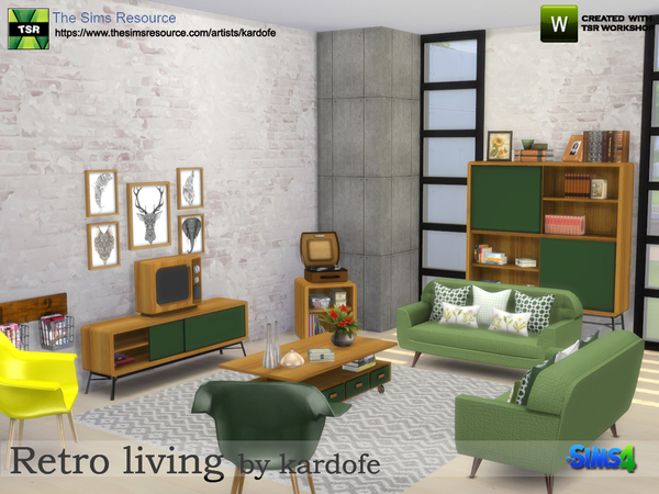 Retro living by kardofe at TSR image 515 Sims 4 Updates