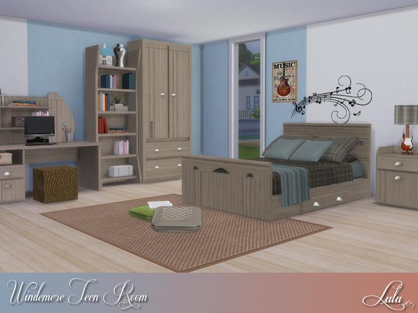 Sims 4 Windermere Teen Bedroom by Lulu265 at TSR