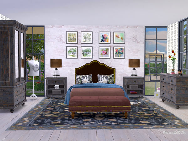 Potterybarn Bedroom by ShinoKCR at TSR image 518 Sims 4 Updates