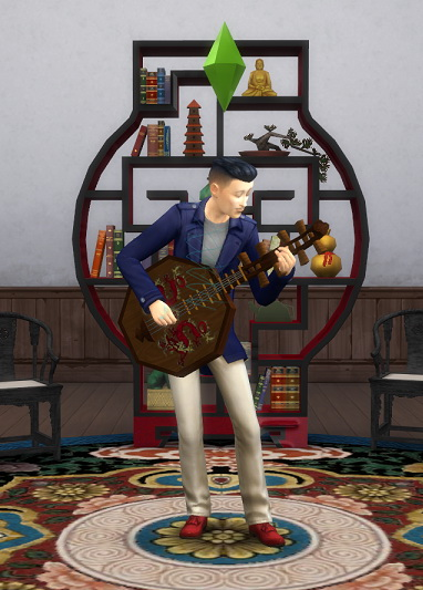 Imperial Dragon Lute by BigUglyHag at SimsWorkshop image 521 Sims 4 Updates